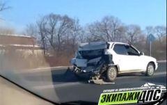 Серьезное ДТП произошло на федеральной трассе в Приморье