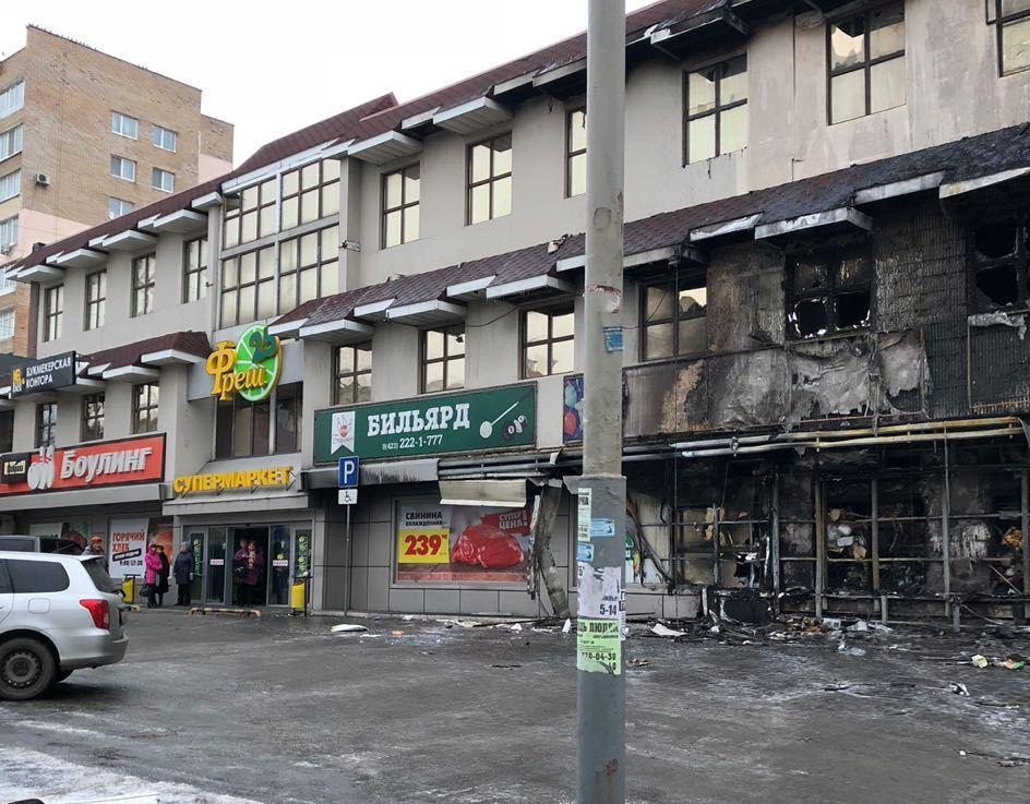 Руководство сгоревшего магазина во Владивостоке считает, что был совершен поджог