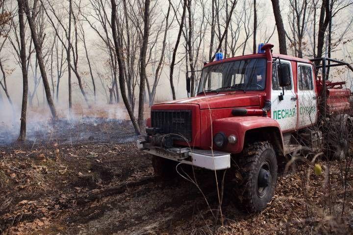 Сотрудники МЧС ликвидировали пожар в служебном помещении в Уссурийске