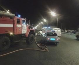 На трассе Хабаровск – Владивосток загорелся автомобиль