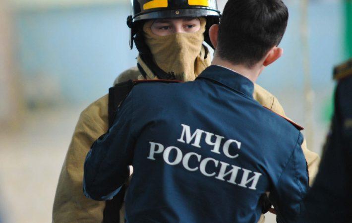 В центре приморского города произошел пожар