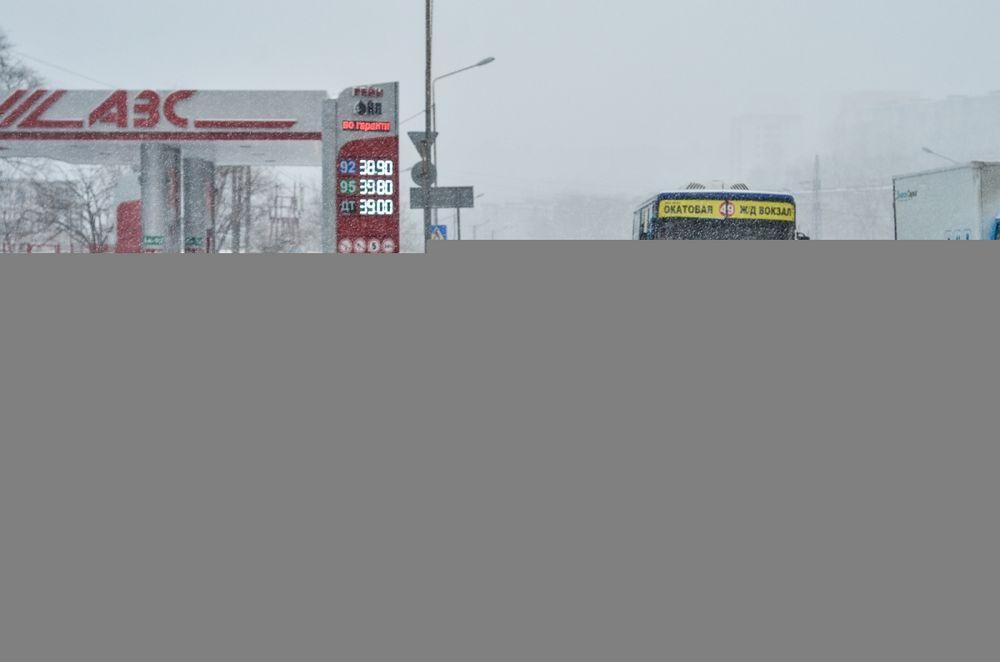 Снегопад застал жителей Владивостока врасплох