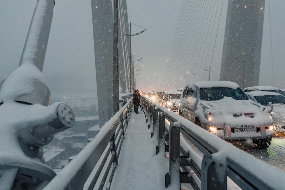 Усиление снегопада во Владивостоке ожидается в ближайшие часы