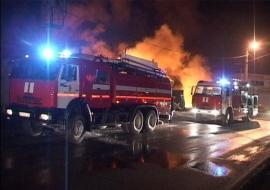 Торговый павильон загорелся в Приморье