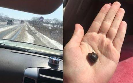 Вот таким «песочком» посыпают дороги в Приморье