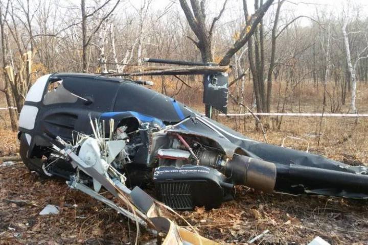 Названа причина крушения вертолета в Приморье в 2016 году