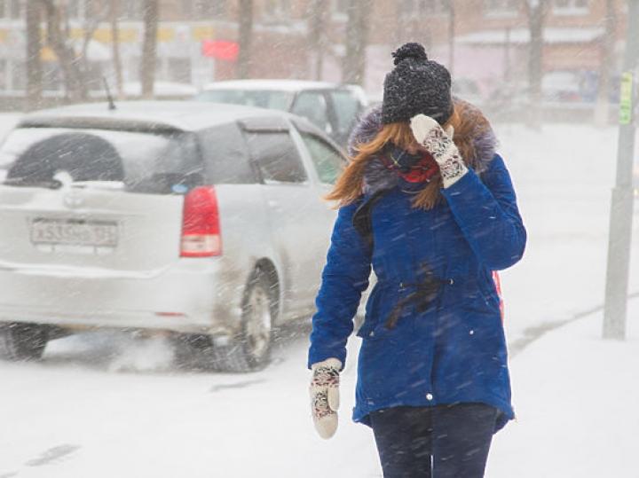 По Владивостоку ударит ливневый снег