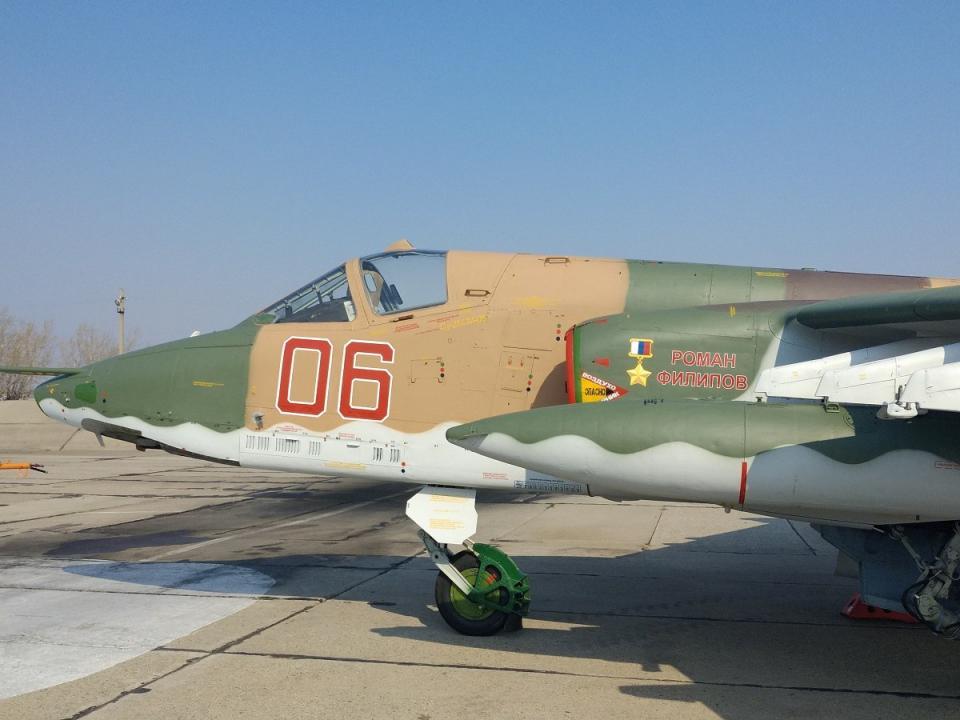 В Приморье штурмовику Су-25 присвоили имя погибшего в Сирии летчика