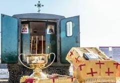 Мобильный храм освятили в Уссурийске