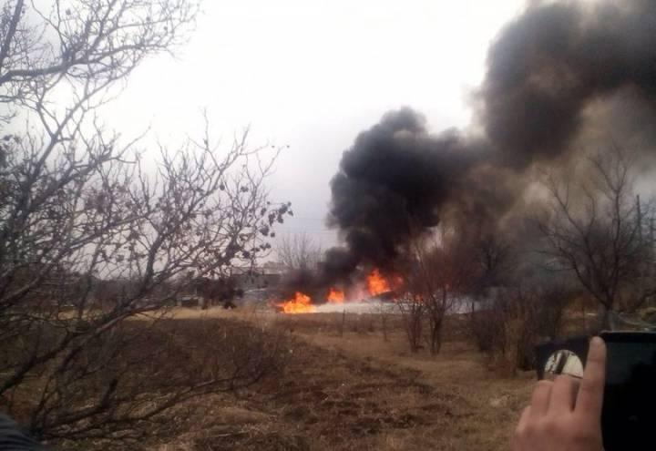 В Приморье упал Су-25