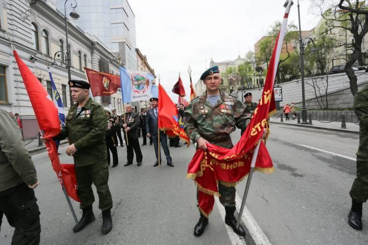 Улицы Владивостока перекроют на время репетиции парада Победы