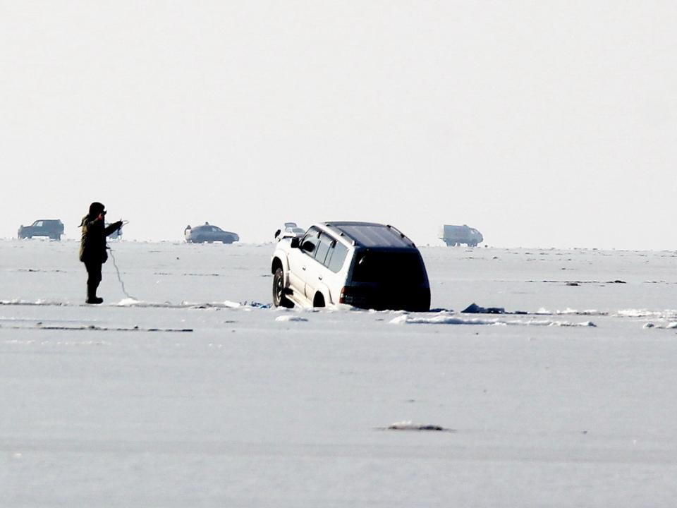 В Приморье будут штрафовать за выезд на лед на автомобиле