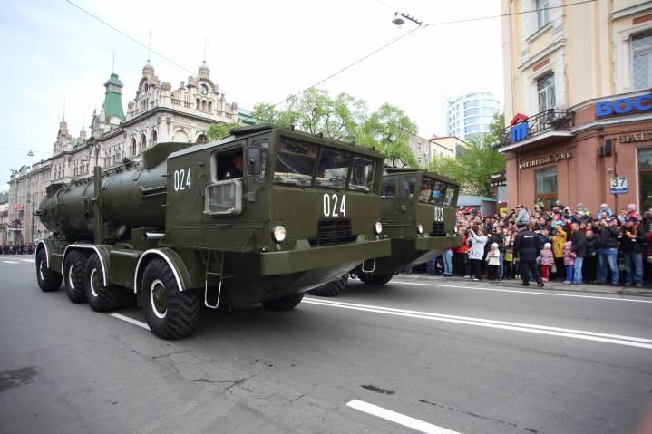 25 апреля движение в центре Владивостока перекроют из-за репетиции парада Победы