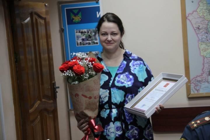 Почетную грамоту Президента РФ вручили сотруднице МЧС Приморья