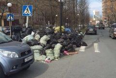 Мусор, собранный жителями Владивостока во время субботника, до сих пор не вывезли