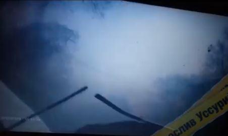 «Как будто в кабине болида»: жесткое ДТП удачно сняли в Приморье