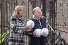 Приморские депутаты поприветствовали большекаменцев на открытии нового стадиона