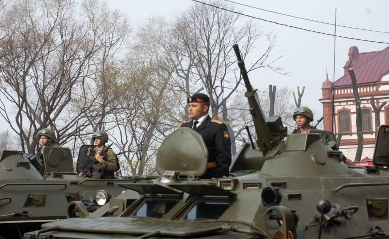 Сегодня во Владивостоке снова будут репетировать парад Победы
