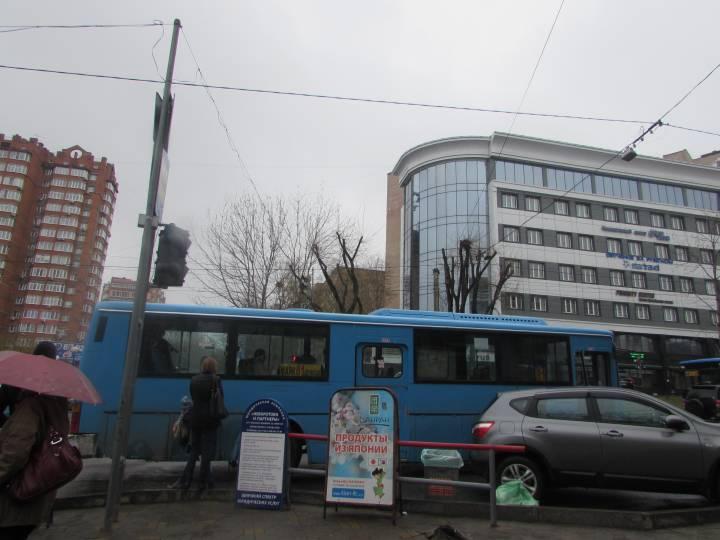 Во Владивостоке на «зебре» возле остановки «Дальпресс» нет места пешеходам