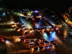 В честь Дня Победы автомобилисты Владивостока устроили флешмоб
