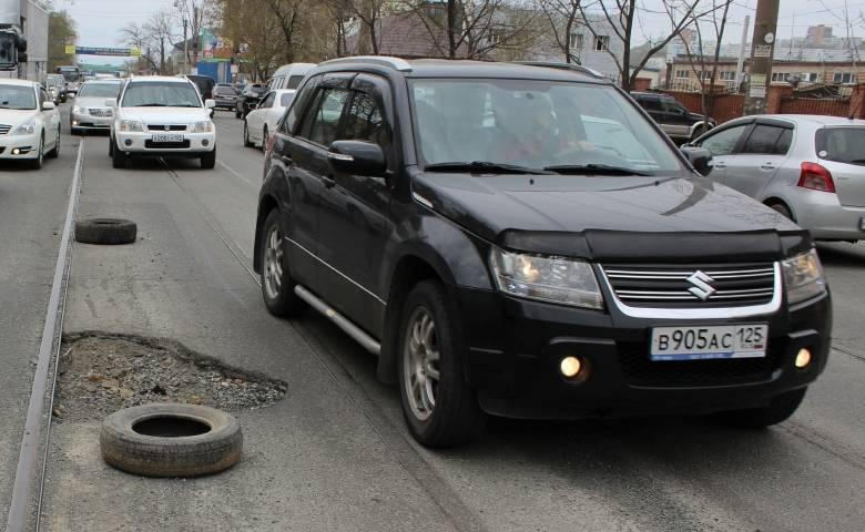 Народный проспект – кандидат на лидерство в рейтинге самых ужасных дорог Владивостока