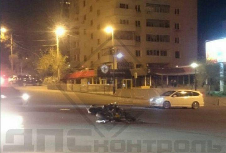Во Владивостоке произошло очередное ДТП с участием мотоциклиста