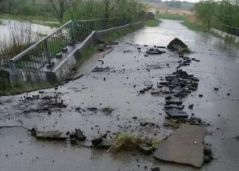 В Приморье обрушилась часть моста