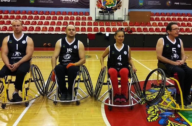 Пять команд принимают участие в первом чемпионате Приморского края побаскетболу на колясках