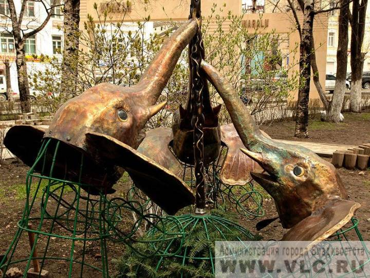 Во Владивостоке в сквере городов-побратимов украли декоративных слонов