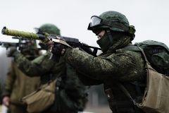 Военнослужащие ВВО совершили 40-километровый марш-бросок в Забайкалье