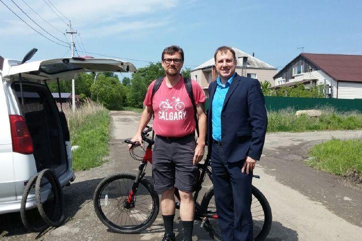 Канадский путешественник отправится из Владивостока в Португалию на велосипеде