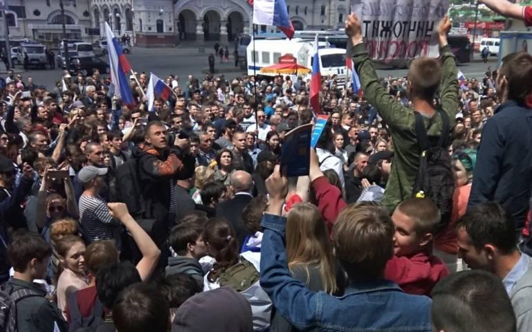 Очередной несанкционированный митинг прошел во Владивостоке