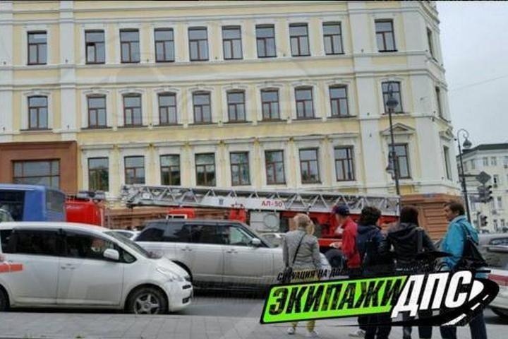 Пожар разгорелся в филиале краевой администрации