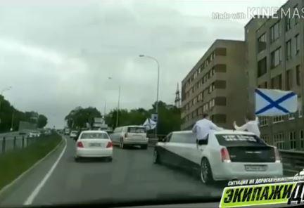 Видео с выпускниками ТОВВМУ на лимузинах наделало шуму во Владивостоке