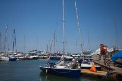 Сильный ветер помог приморским яхтсменам закончить гонку как никогда рано