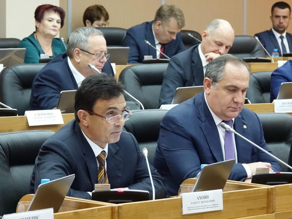Депутаты Законодательного собрания Приморья рассмотрели корректировку краевого бюджета на 2018 год