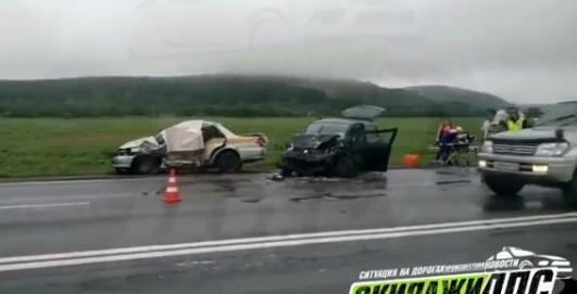 Смертельная авария произошла в Приморье