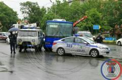 Конфликт между водителем автобуса и полицейскими произошел во Владивостоке