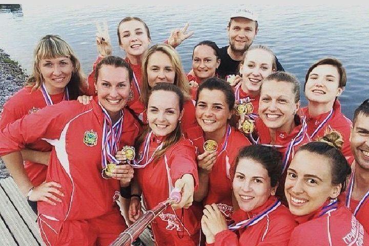 Женская сборная по гребле на лодках «Дракон» завоевала путевку на чемпионат мира