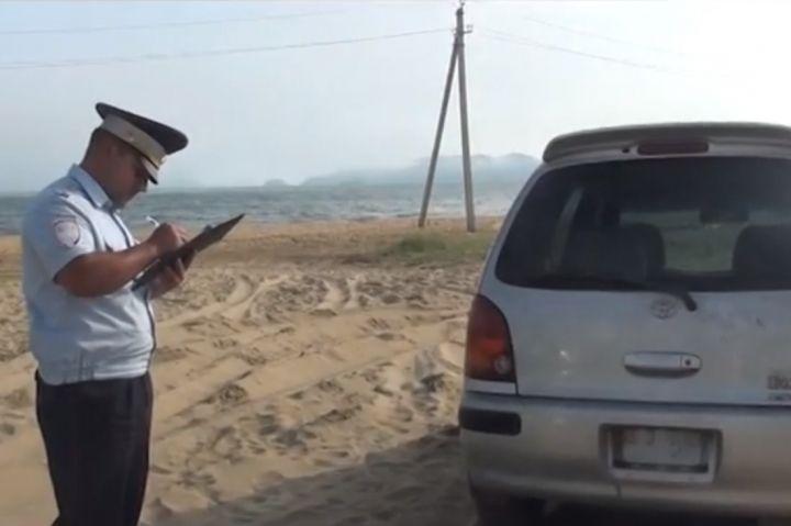 Автоугонщик из Находки нашелся на пляже вместе с машиной
