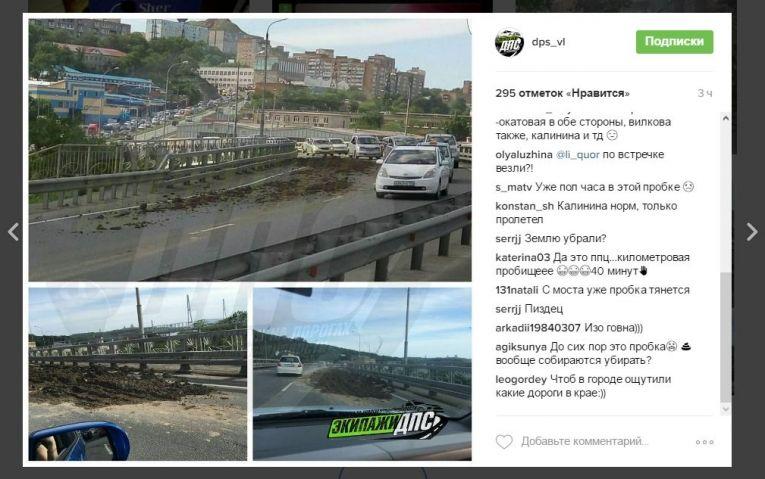 Коровий навоз устроил гигантскую пробку во Владивостоке