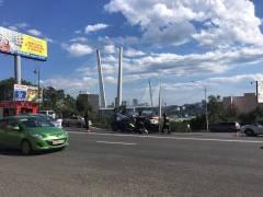 На Суханова посреди оживленной трассы полностью выгорел автомобиль