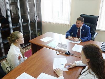 Председатель Заксобрания Приморского края провел личный прием граждан