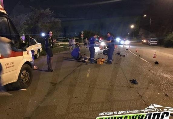 Несовершеннолетний водитель мопеда погиб в ДТП во Владивостоке