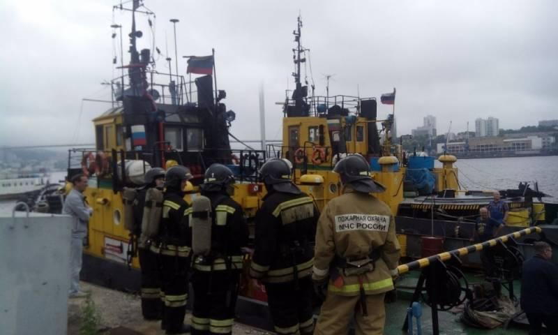 Во Владивостоке горел буксир «Инженер Марченко»