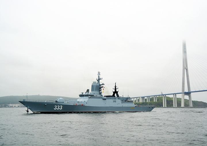 Тихоокеанский флот готовится к формированию парадного строя кораблей в Амурском заливе