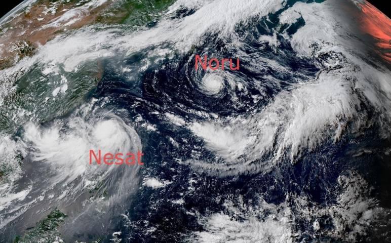 Тайфуны Noru и Nesat не опасны для Приморья