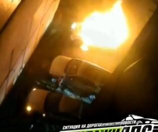 В пригороде Владивостока сгорел автомобиль