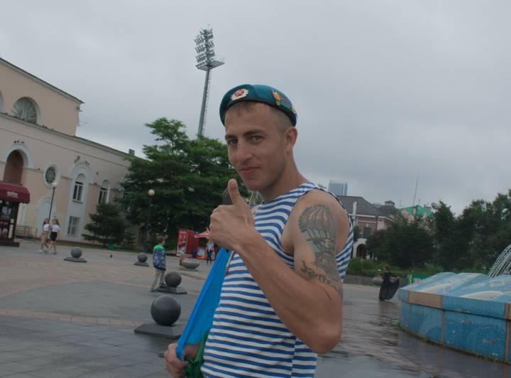 Гулянья «голубых беретов» в центре Владивостока прошли цивилизованно