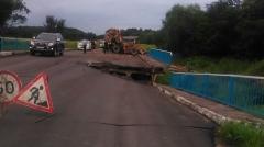 Лесовоз, повредивший мост в районе села Таежка, отправлен на арестплощадку